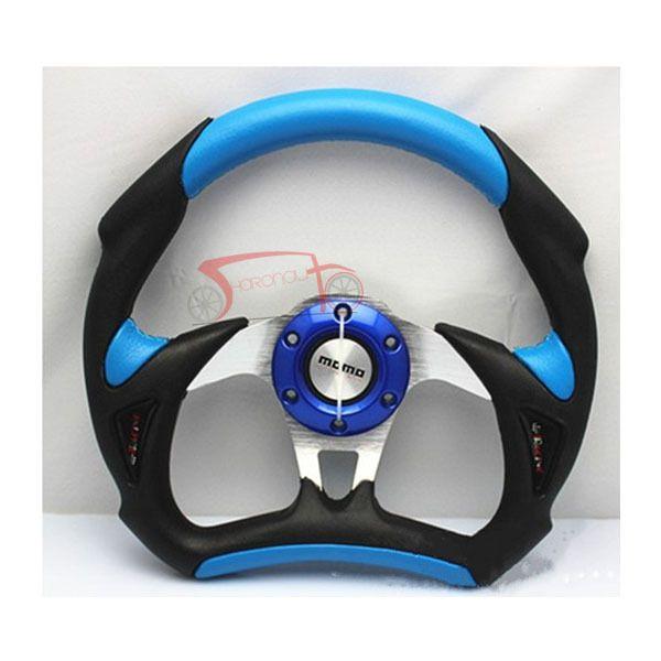 Гоночный автомобиль руль MOMO 13  пвх + PU AIUM кронштейн, Abs рог рот, Дрифтинг руль синий для изменения