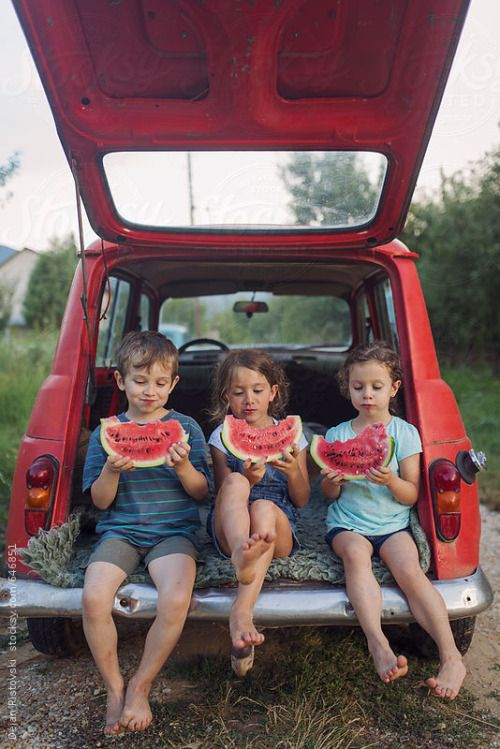Watermelon , children's summer refreshment By MelkiNAvailable to license exclusively at Stocksy