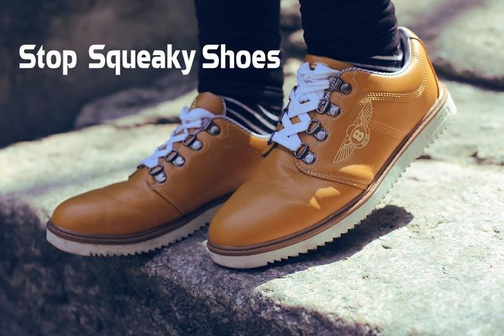 How to Stop Squeaky Shoes. There are various methods on how you can stop your shoes from squeaking, depending on the type of shoes you have and the reason..