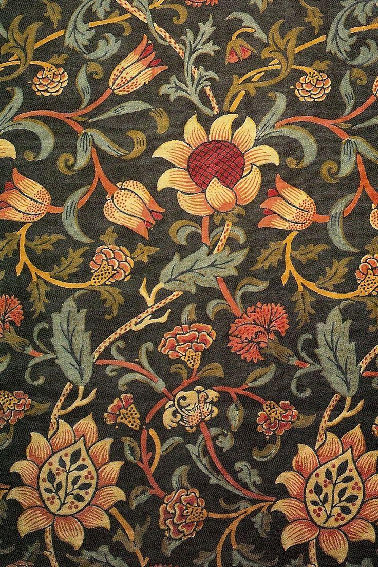 William Morris Wallpaper paisely crushed velvet Pinterest