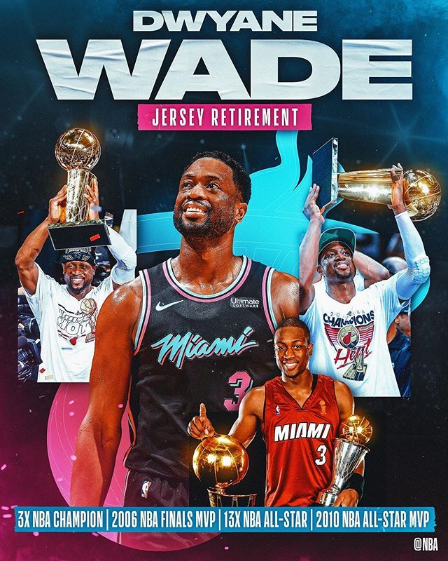 Nba On Instagram Tonight In Miami The Miamiheat Raise Dwyanewade S 3 To The Rafters Forever L3gacy In 2020 Nba Champions 2006 Nba Finals Dwyane Wade Jersey