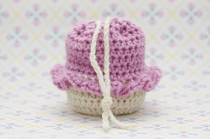 Hæklet Cupcake Pung