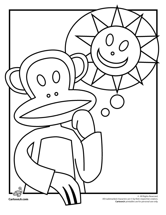 Paul Frank Printable Coloring Pages Julius the Monkey Paul ...