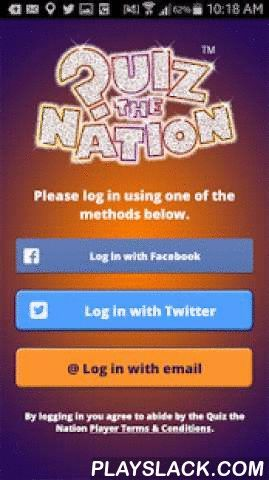Quiz The Nation  Android App - playslack.com , Quiz the Nation is a brand new interactive quiz format from the team which brought you The Krypton Factor. It will be on screens every Sunday night from early January 2015.The mobile application enables you to play along with the quiz from the pub or your home. Use the app for your chance to win the top prize.