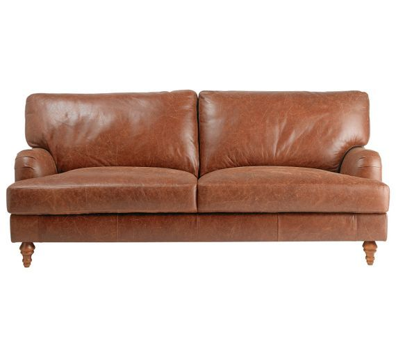 Tan Leather Sofas Sale Uk: Buy Heart Of House Livingston Large Leather Sofa