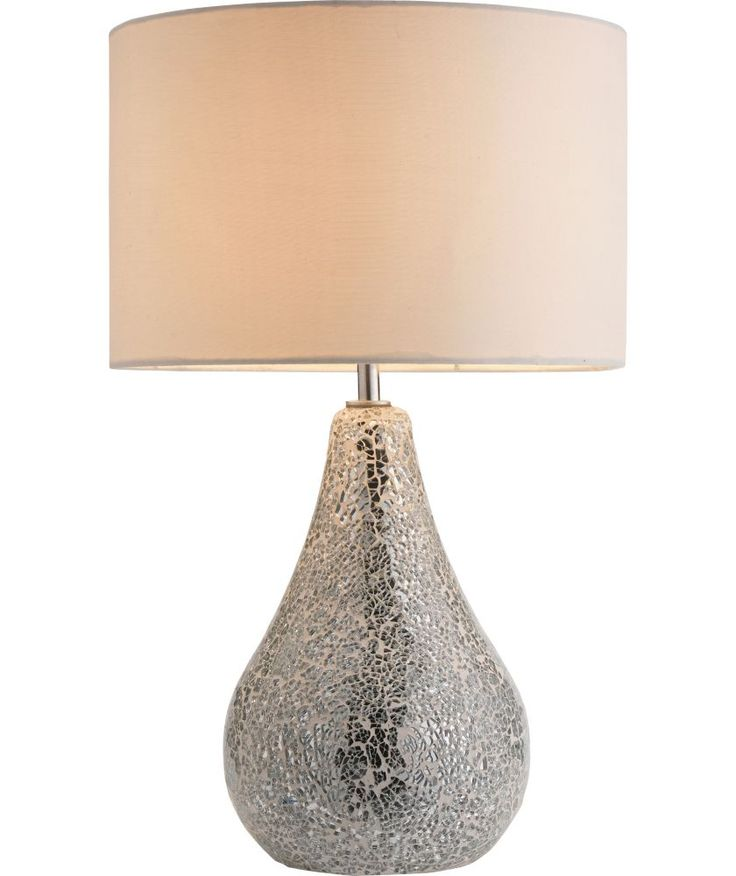 Buy Heart Of House Crackle Mirror Finish Table Lamp Silver At Argos Co