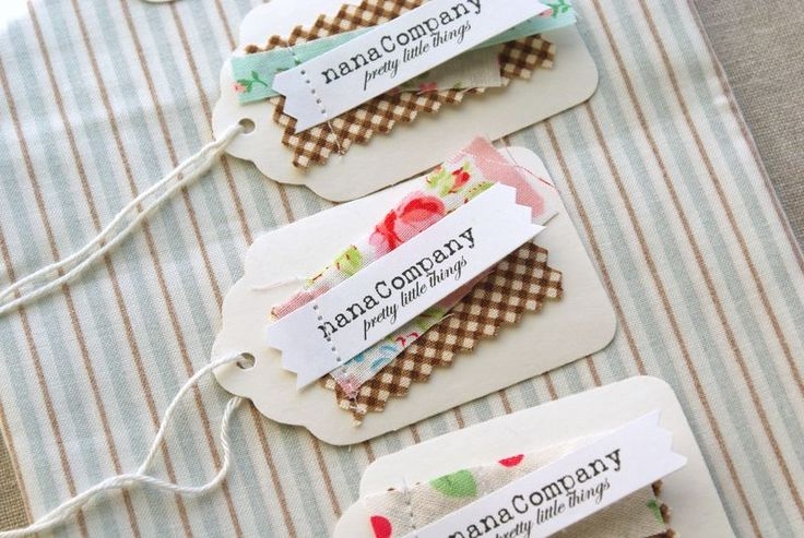 Mini paper tags with fabric scraps... I love making these to put in my shop orders when I have the time.