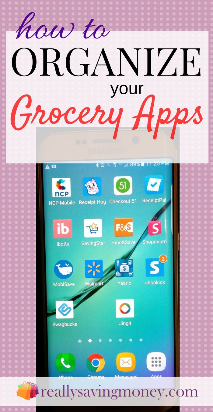 How to organize your grocery apps like an expert couponer | couponing hacks | savings tips | save on groceries | save money | coupons | deals | saving apps