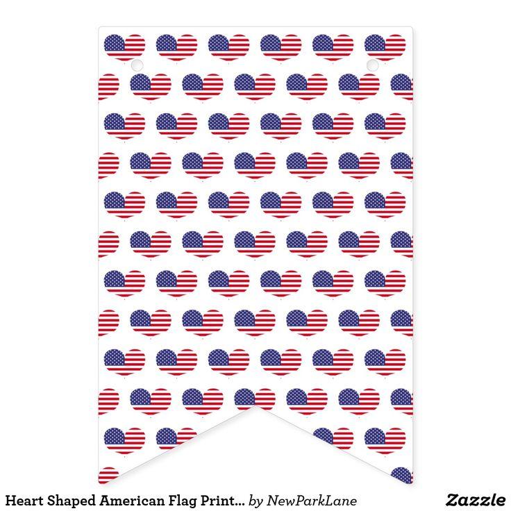 Heart Shaped American Flag Print | 4th of July