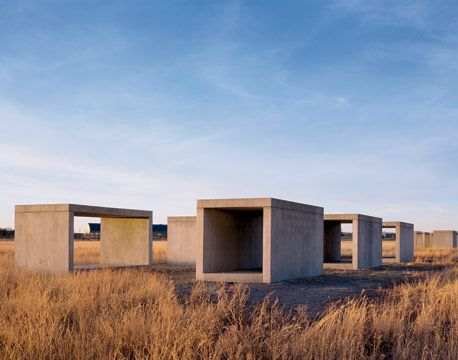 Donald Judd installation, Marfa