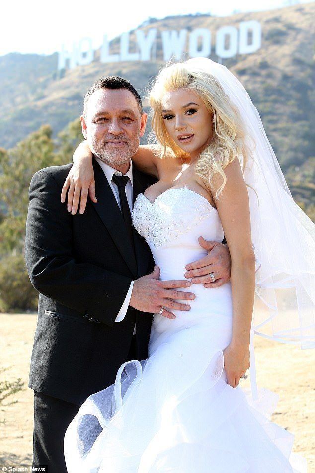 Way back when: Courtney Stodden has begged for her ex-husband Doug Doug Hutchison to take her back in a heartfelt Instagram caption attached to a wedding picture