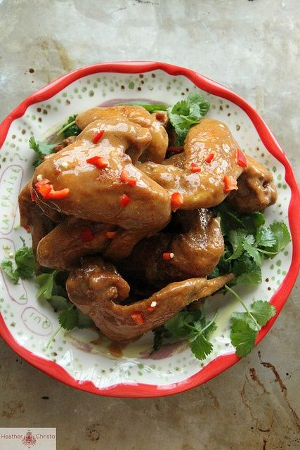 Crispy Thai Chicken Wings with Peanut Sauce #WOWfoodanddrink