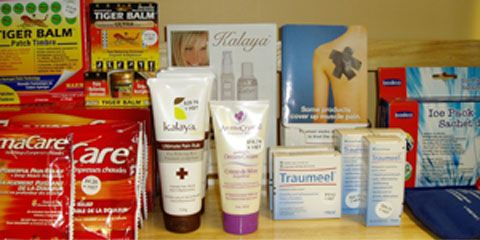 Selection of natural products available at Myoflex.