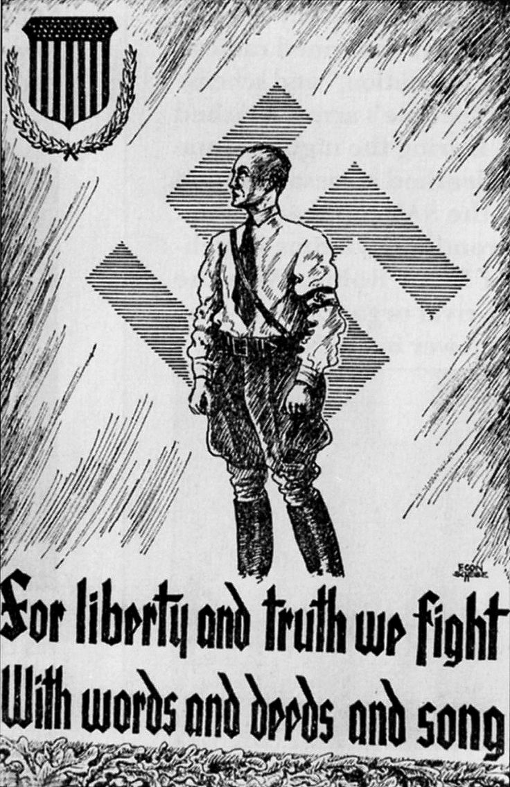 Best German American Bund Ideas On Pinterest War - Anti fascismos map us
