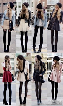Different ways to wear stockings