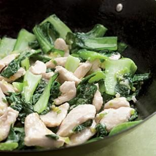 I always wondered how Chinese restaurants got the texture of the chicken so smooth. Now I know. I choose to add some quartered white mushrooms before adding the bok choy. I skipped the scallions and it still had nice flavor.