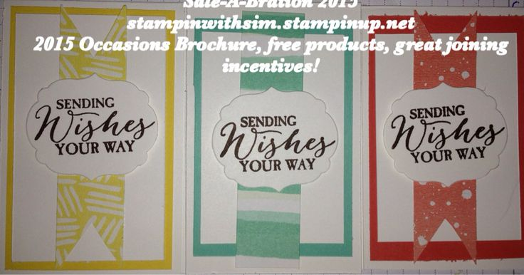 """Great note card sets available mixed colours 10 cards in each set. Envelopes can be added at extra cost. Cards are 2""""3/4 x 4""""1/4 $17 in case.  Stampinwithsim.stampinup.net Simsykes@outlook.com Stampin' Up Sale-A-Bration items used in set."""
