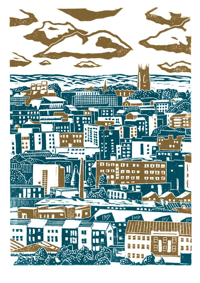 Sheffield City View No.2 by James Green - Printworks on Folksy #handmade #yorkshiremade