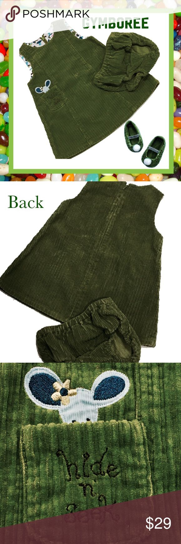 GYMBOREE Toddler Girl's Jumper & Pants 12 - 18 Mos Olive green corduroy toddler girl's 2-piece jumper and panties from Gymboree, size 12 - 18 months.  Excellent condition. Gymboree Matching Sets