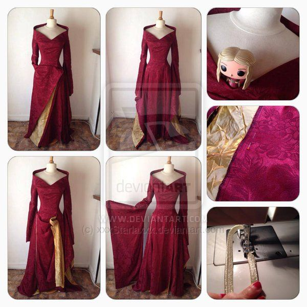 Cersei Lannister - 3rd season Burgundy Dress by xxxStarlaxxx.deviantart.com on @deviantART