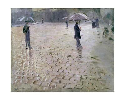 Study for a Paris Street, Rainy Day, 1877 Giclee Print by Gustave Caillebotte at Art.com