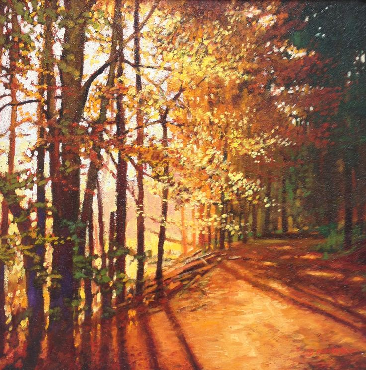 """Autumn Fire"" $2,600 20"" X 20"" Oil Painting"
