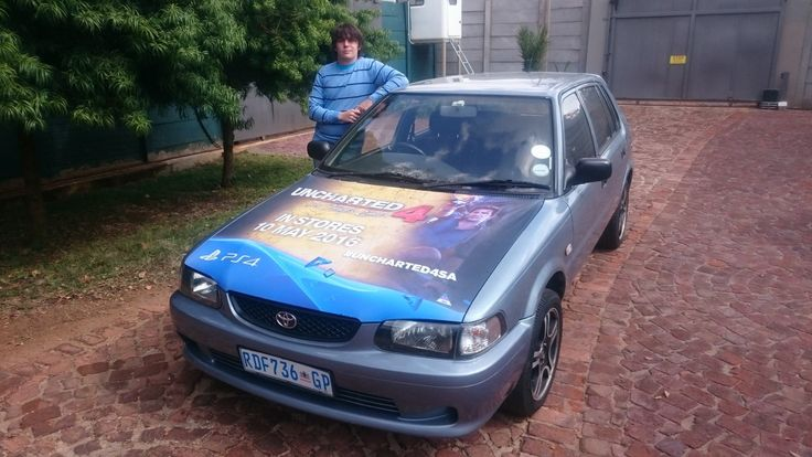 One of our #Uncharted4SA drivers getting paid to get the conversation started. #EarnExtraCash #BrandYourCar #Bucks4Influence