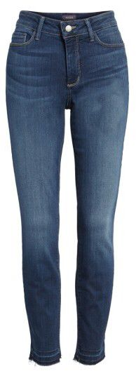 Women's NYDJ Ami Release Hem Stretch Skinny Jeans -Frayed release hems complete the lived-in look of stretch-woven denim jeans cut for a skinny, curve-hugging fit with exclusive lift-tuck technology that slims and smoothes from within. Free Shipping & Returns. #ad #women #denim #stretch #jeans #skinnies #myredshoestories