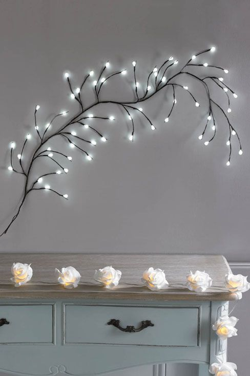 White LED Wall Branch Light. Follow the link for further details/to purchase. http://www.klife.co.uk/distributors/91293/Eve-Ellwood?returnUrl=/klifeshop/home/decorative-accessories/white-led-wall-branch-light/ #HomeDecor #InteriorDesign #HouseandHome