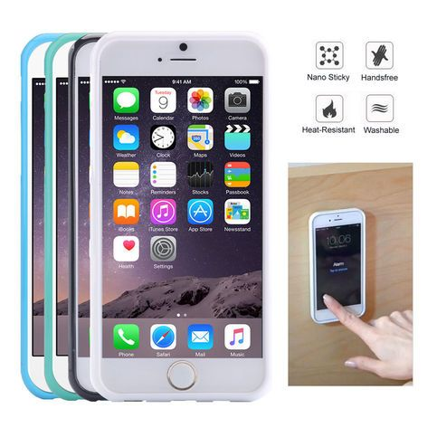 Anti Gravity Magic Sticky Back Case Cover Nano Tech for iPhone Samsung  This Anti Gravity Nano Technology Magic Case works with Apple iPhone 5S/5G, iPhone 6/6S, iPhone 6 Plus/6S Plus, it can Stick to glass, mirrors, whiteboards, metal, kitchen cabinets or tile, car GPS, and most smooth, flat surf...