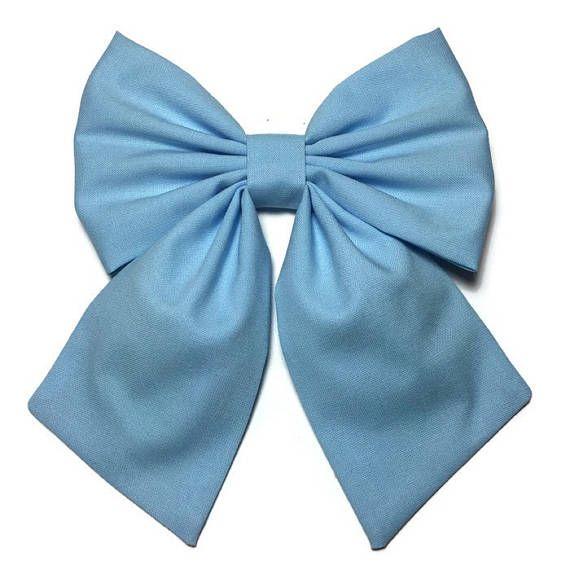 Light Blue Bow Hair Bow
