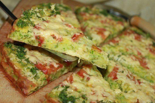 Низкокалорийная пицца из кабачков / Удивительная еда!