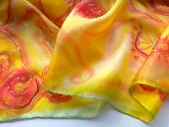 Hey, I found this really awesome Etsy listing at https://www.etsy.com/listing/163821341/sunshine-yellow-silk-scarf-for-ladies