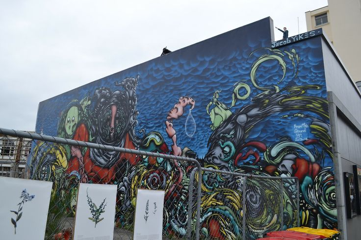 Street art in the CBD of Christchurch, New Zealand