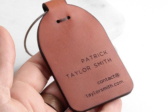 72ba55fc34d5 Leather luggage tag, Custom, Luggage Tags Personalized Leather ...