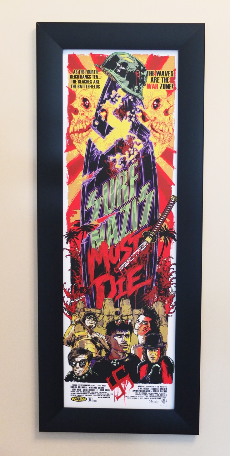 """12"""" x 36"""" Rhys Cooper artwork displayed in one of our Wide Border Frames."""