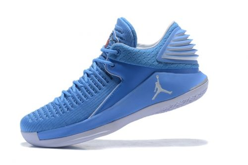 b27a8819f23c1c Authentic Air Jordan 32 Low UNC University Blue White Mens Basketball Shoes  - Nawomenshoes