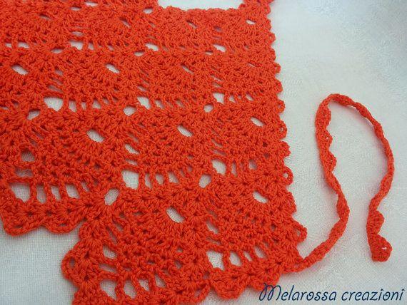 Top estivo arancione per bambina hippie di MelarossaCreazioni