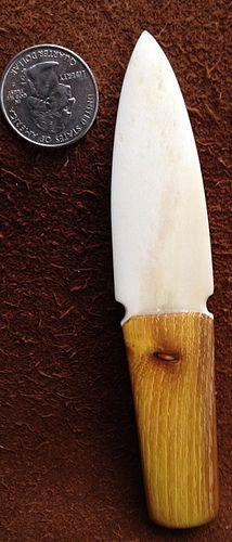 bison bone knife,bodark scales