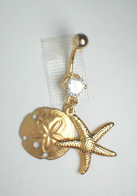 Unique Belly Ring  GP Seashells by pondgazer2004 on Etsy, $10.95