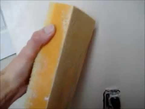 How to AVOID sanding Mud on Drywall use a Wet Sponge to make mud Smooth ...