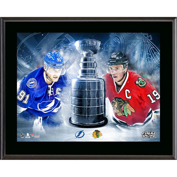 """Fanatics Authentic Tampa Bay Lightning vs. Chicago Blackhawks 10.5"""" x 13"""" 2015 Stanley Cup Final Match-Up Sublimated Plaque - $23.99"""