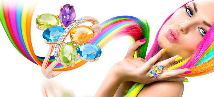 Кольца с разноцветными камнями микс – радужные драгоценности  Невероятно яркая и позитивная солнечная коллекция Rainbow: здесь представлены кольца со вставками разноцветных камней. В серебре и золоте трех цветов: белом, красном и желтом удивительным образом сочетаются лимонные цитрины, салатовые хризолиты, аметисты цвета молодой сирени, нежно-голубые топазы, насыщенные красные гранаты, перламутровые жемчужины… http://www.magicgold.ru/catalog/ring-mix/