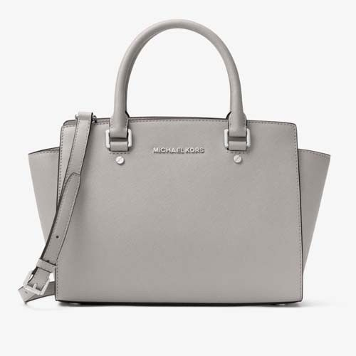 Michael Kors Selma Medium Satchel Dove