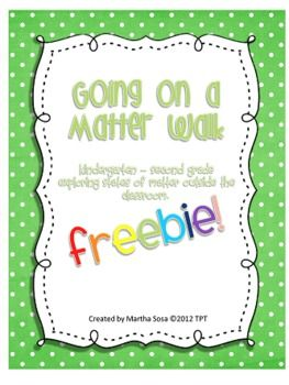 {FREEBIE} This product was one of my top sellers! Now it's free for you and your students to enjoy! :) Students use this booklet (copy front to back) to record the solids, liquids and gases they observe while on a discovery walk around the school.