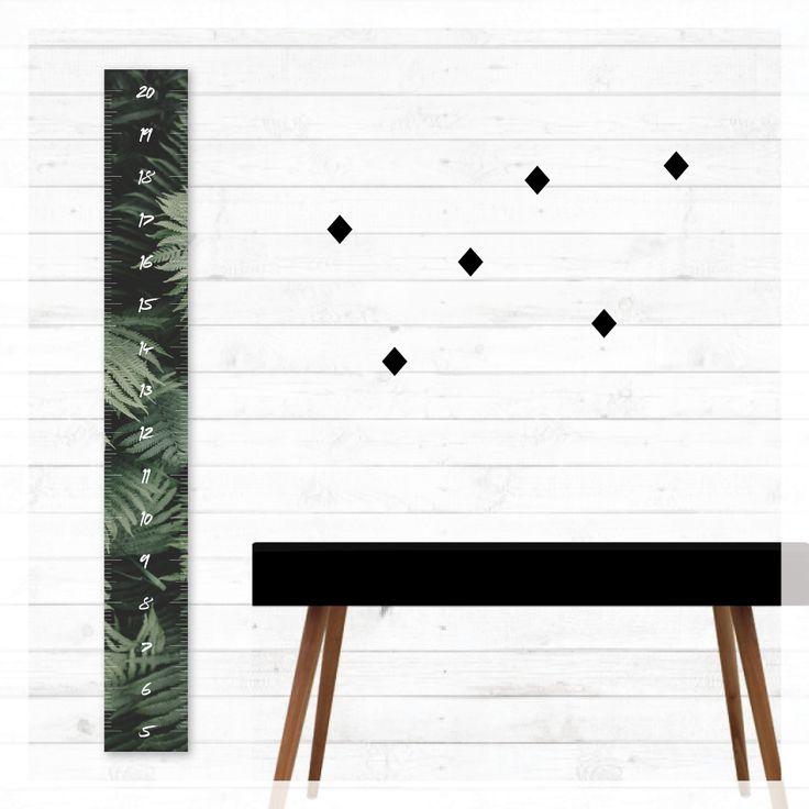 wild rainforest height growth chart, ferns, scandi, modern, photography, scandinavian, beach, boho, canvas, wall decor, home decor, interior styling, home styling, kids bedroom, kids room, boho home
