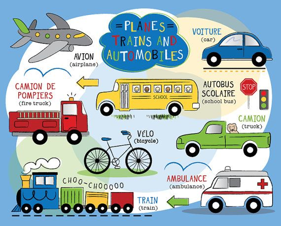 Planes Trains And Automobiles Puzzle In Spanish Or French
