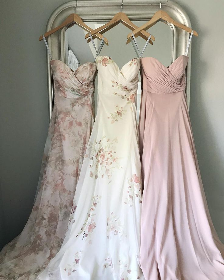 Adeline Bridesmaid Dress 3 ways by Jenny Yoo 1) Watercolor Blush 2) Ivory Soft Rose Eden Bouquet 3) Desert Rose Chiffon