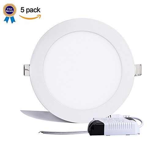B-right Pack of 5 Units 9W 5-inch Ultra-thin Round LED Recessed Panel Light, 650lm, 60W Incandescent Equivalent, 4000K Neutral White, LED Recessed Ceiling Lights for Home, Office, Commercial Lighting -  http://www.wahmmo.com/b-right-pack-of-5-units-9w-5-inch-ultra-thin-round-led-recessed-panel-light-650lm-60w-incandescent-equivalent-4000k-neutral-white-led-recessed-ceiling-lights-for-home-office-commercial-lighting/ -  - WAHMMO
