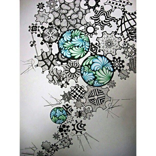 @alice_inmadness doodle zentangle